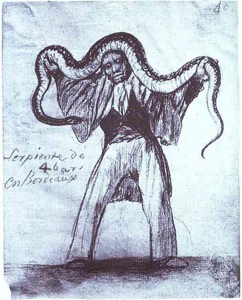 Four Yard Long Snake in Bordeaux, c.1824 - c.1828 - Francisco Goya