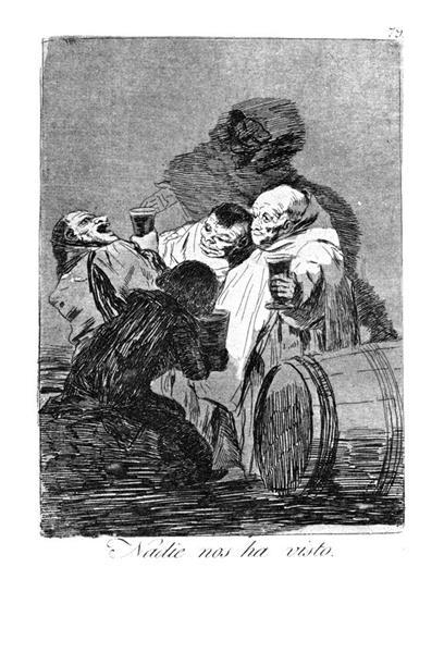 No one has seen us, 1799 - Francisco Goya