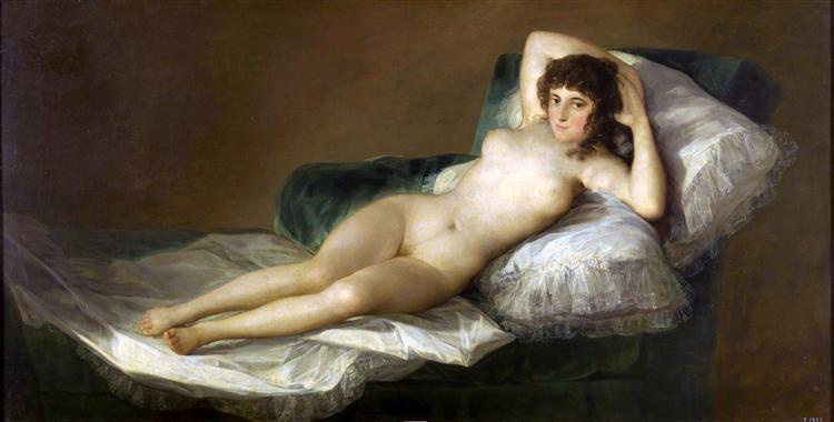 La Maja nue, 1800 - Francisco de Goya