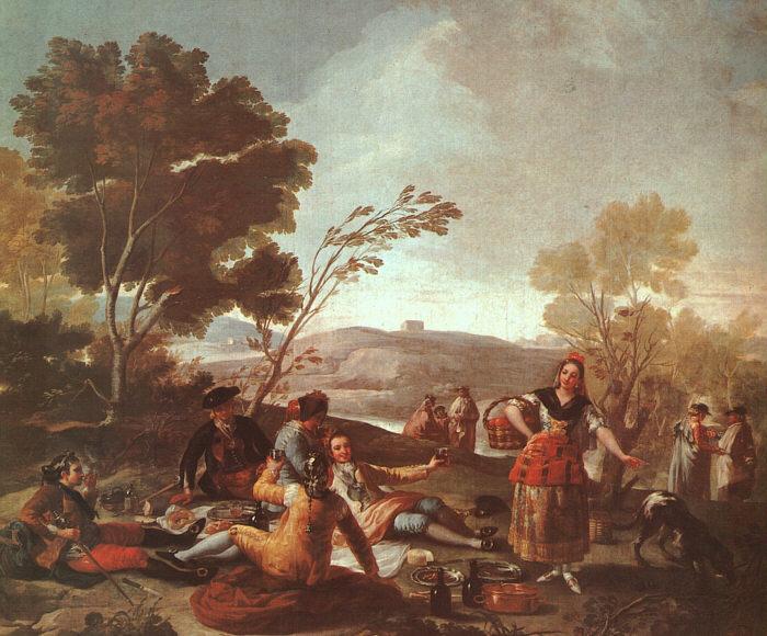 Picnic on the Banks of the Manzanares, 1776 - Francisco de Goya