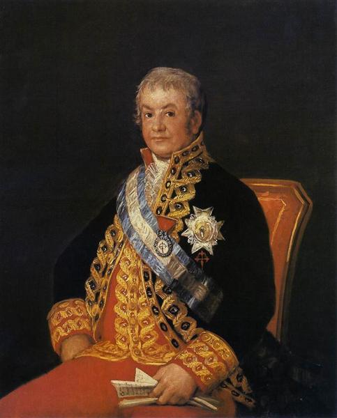 Portrait of José Antonio, Marqués de Caballero, 1807 - Francisco Goya