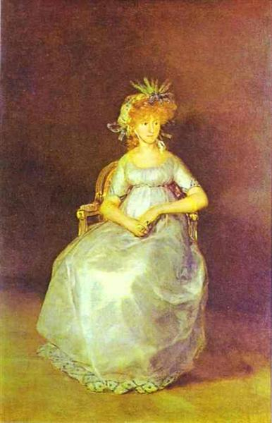 Portrait of Maria Teresa of Ballabriga, Countess of Chinchon, 1800 - Francisco de Goya