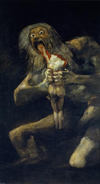 Saturn Devouring His Son - Goya Francisco