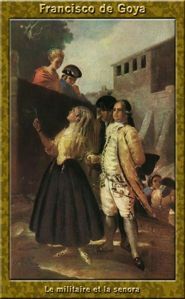 The military and senora, 1778 - 1779 - Francisco Goya