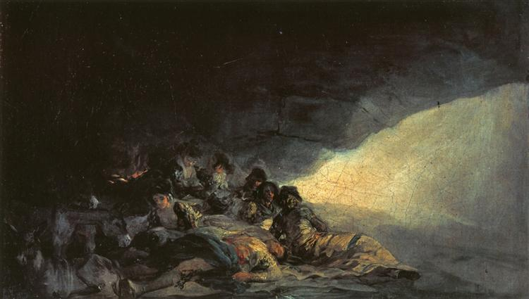 Vagabonds Resting in a Cave, 1798 - 1800 - Francisco Goya