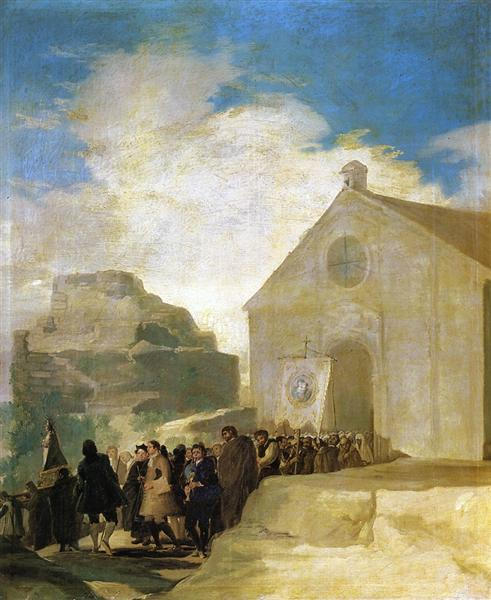 Village Procession, 1786 - 1787 - Francisco Goya