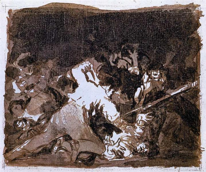 War scene, 1810 - 1812 - Francisco Goya
