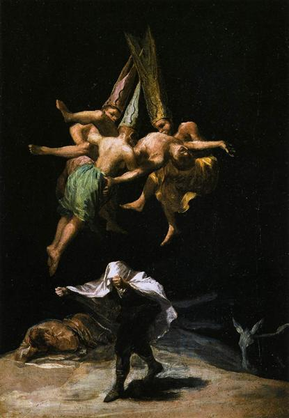 Witches in the Air - Goya Francisco