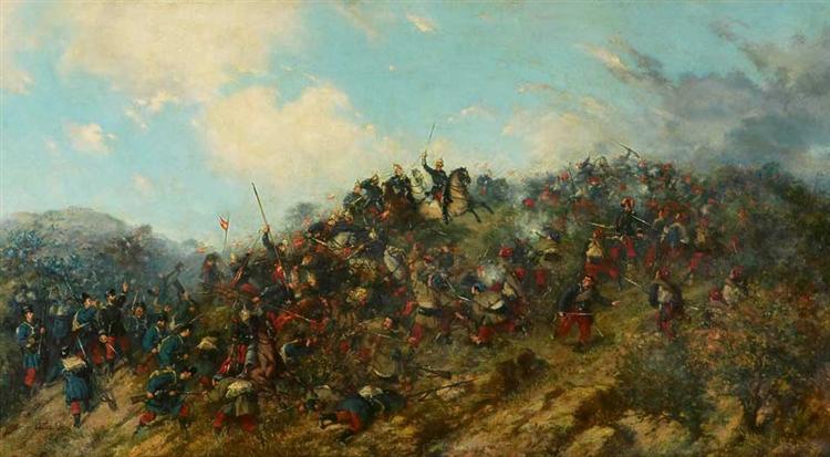 Battle of Treviño, 1879 - Francisco Oller