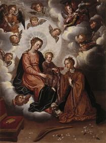 Desposorios místicos de Santa Inés - Francisco Pacheco