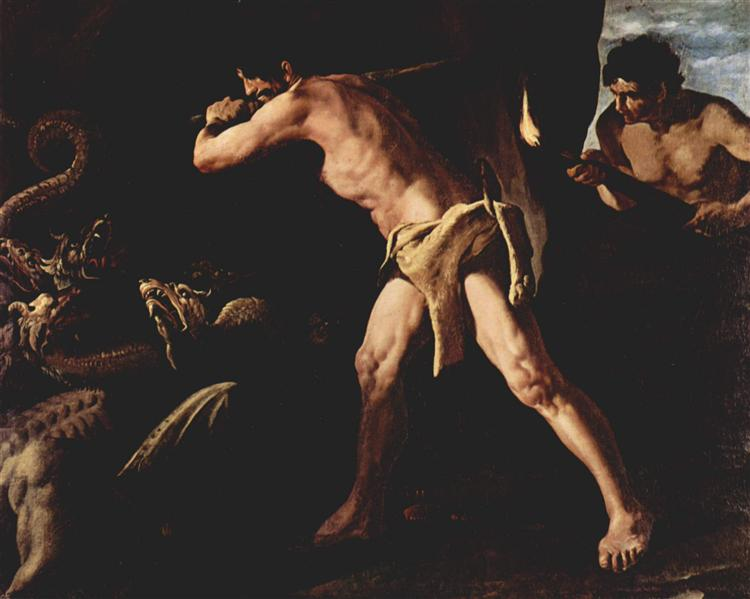 Hercules Fighting with the Lernaean Hydra - Francisco de Zurbaran