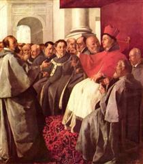 São Boaventura no Conselho de Lyons - Francisco de Zurbarán