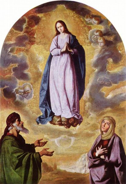 The Immaculate Conception with Saint Joachim and Saint Anne, c.1638 - 1640 - Francisco de Zurbaran