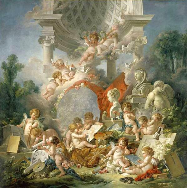 Geniuses of arts, 1761 - Francois Boucher