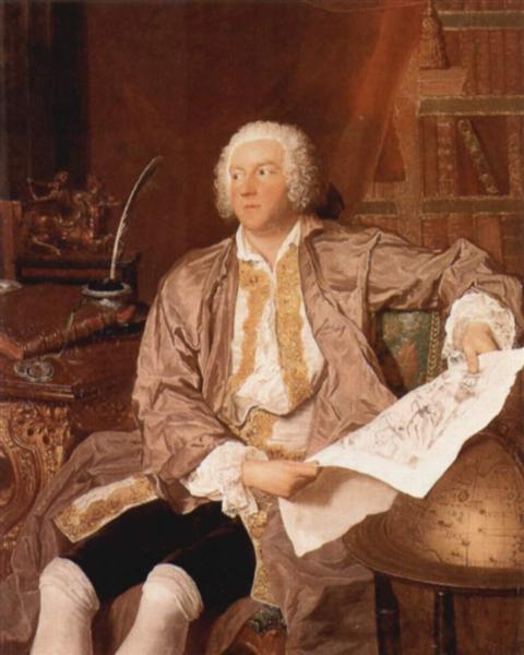 Portrait of Carl Gustaf Tessin, c.1740 - Francois Boucher