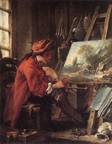 The Painter in his Studio, 1730 - 1735 - Francois Boucher