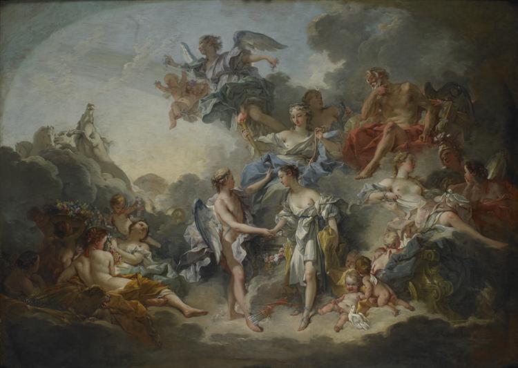 TheWedding of Psych et de l`Amour, 1744 - François Boucher
