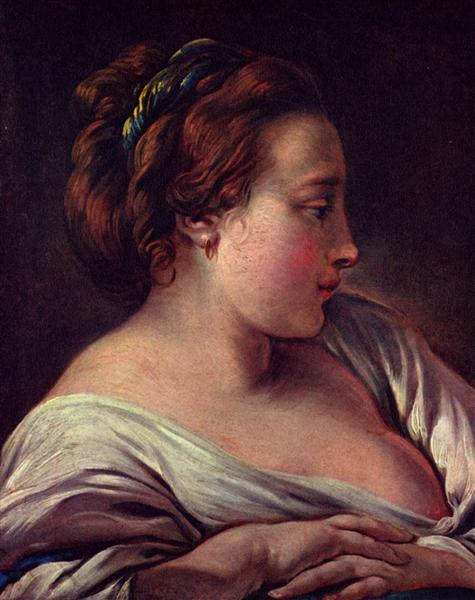 Woman's Head, c.1750 - Francois Boucher