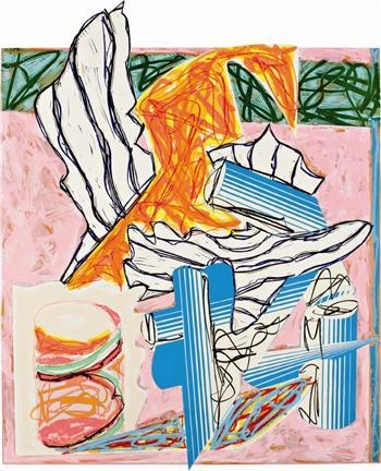 And the Holy One, blessed be He..., 1984 - Frank Stella