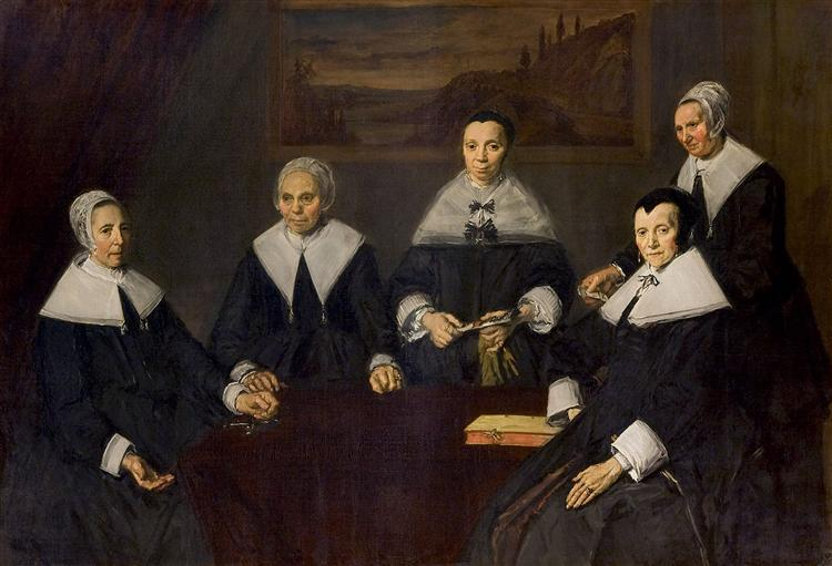 The Regentesses of the Old Men's Almhouse, Haarlem, 1664 - Frans Hals