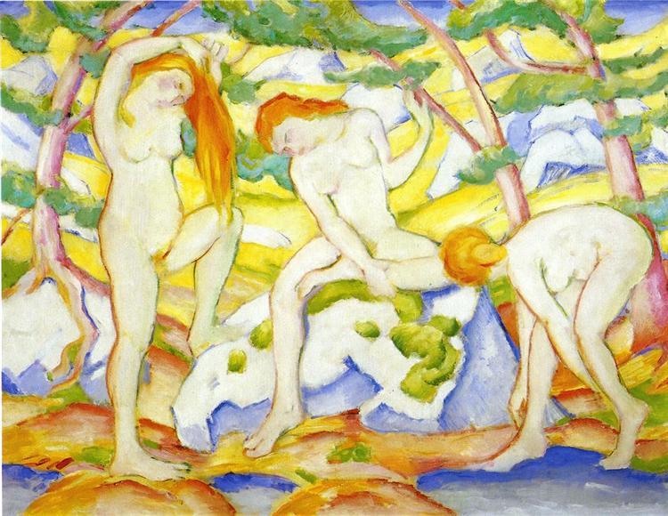 Bathing Girls, 1910 - Franz Marc