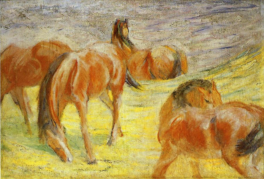 Grazing Horses, 1910 - Franz Marc - WikiArt.org