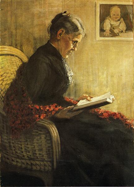 Portrait of the Artist's Mother, 1902 - Franz Marc