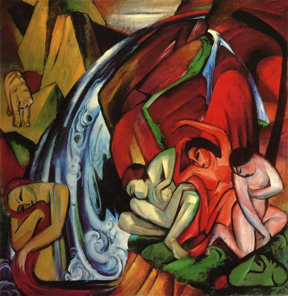 The Waterfall, 1912 - Franz Marc