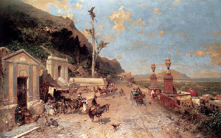 El camino de Monreale, Palermo - Franz Unterberger Richard