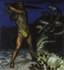 Hercules and the Hydra - Franz Stuck