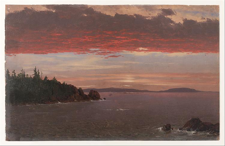 Schoodic Peninsula from Mount Desert at Sunrise, 1855 - Frederic Edwin Church