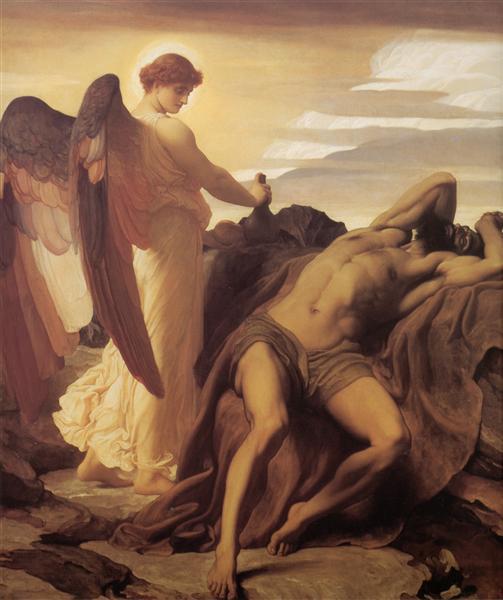 Elijah in the Wilderness, 1878 - Frederic Leighton