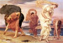 Greek Girls Picking up Pebbles - Frederic Leighton