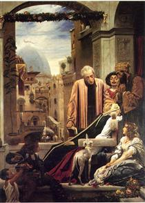 The Death of Brunelleschi - Frederic Leighton