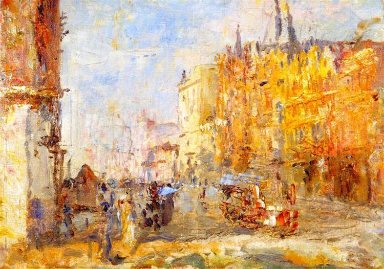 Collins Street - Frederick McCubbin