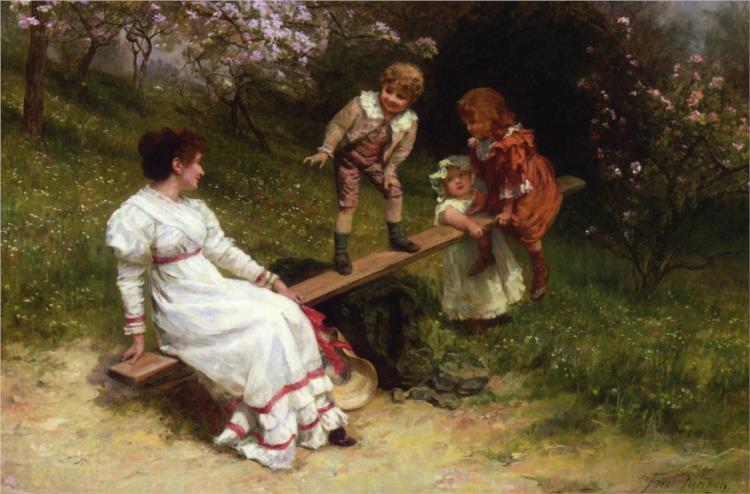 See Saw, 1898 - Frederick Morgan