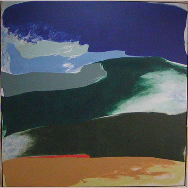 Blue Tide, 1981 - Friedel Dzubas