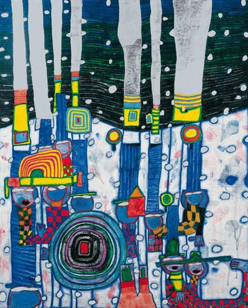 944 Blue Blues, 1994 - Friedensreich Hundertwasser