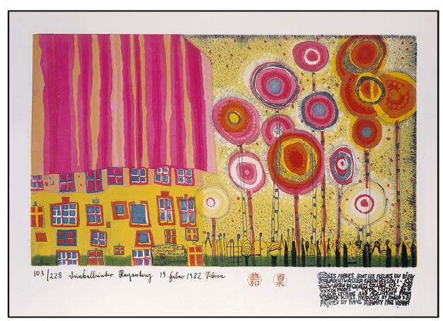 825 The Trees Are the Flowers of the Good, 1982 - Friedensreich Hundertwasser