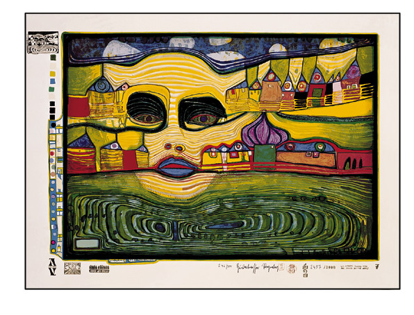 691A  Irinaland Over the Balkans, 1971 - Friedensreich Hundertwasser