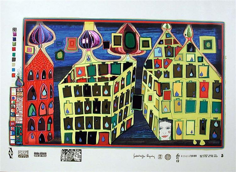 630A  It Hurts to Wait With Love if Love Is Somewhere Else - Friedensreich Hundertwasser