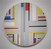 Relational Painting, Tondo - Fritz Glarner