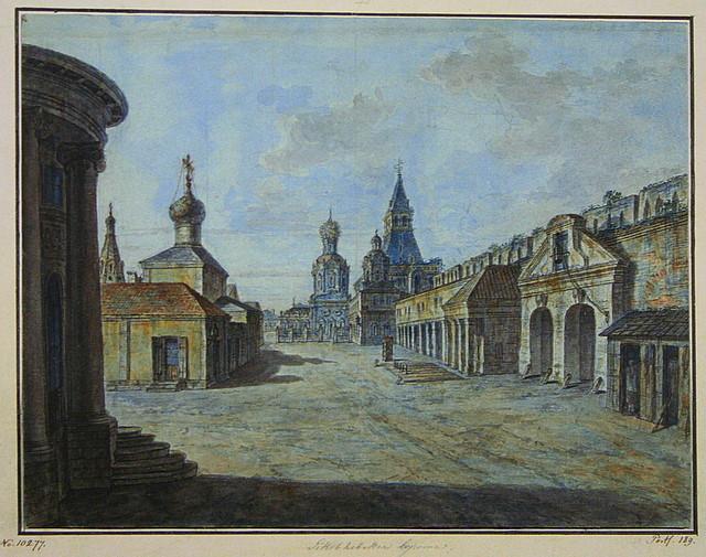 Novaya square, 1805