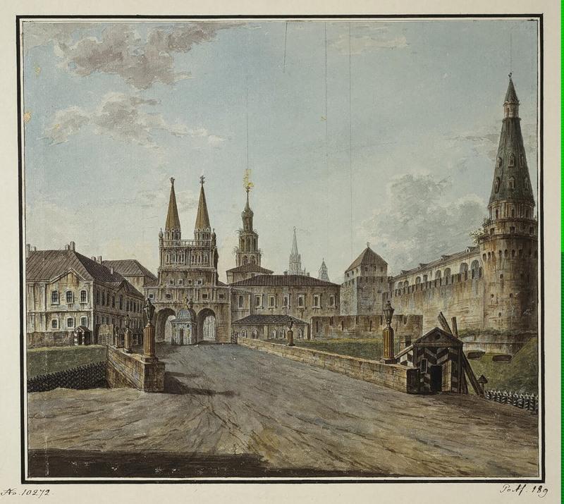 View of Voskresenskiye (Resurrection) and Nikolskiye Gates, 1805