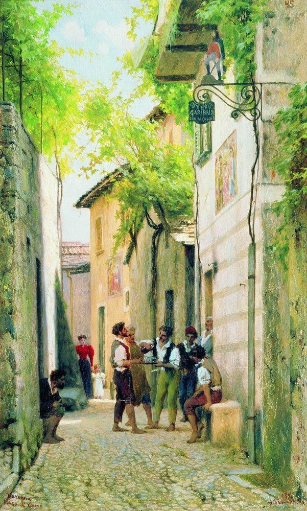 Street in Italian town