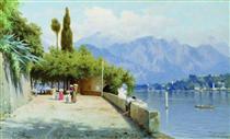 View of Lake Como - Fyodor Bronnikov
