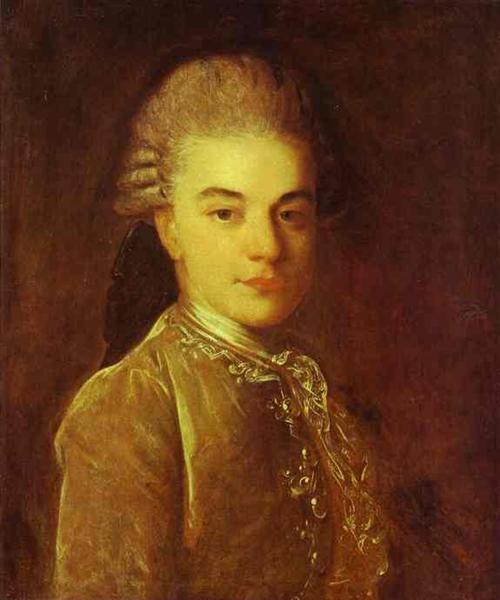 Portrait of A.M.Rimskiy-Korsakov, c.1760 - Fyodor Rokotov