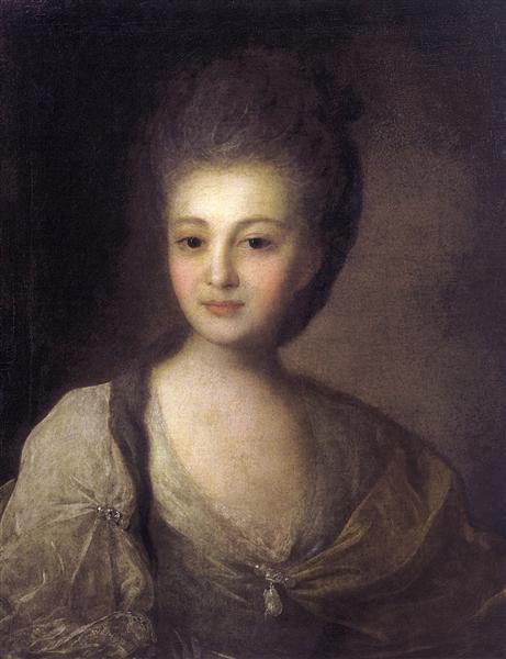 Portrait of Alexandra Struiskaya, 1772 - Fyodor Rokotov