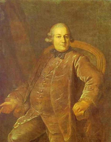 Portrait of P.I.Vyrubov, 1768 - Fyodor Rokotov