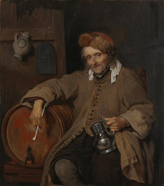 The Old Drinker, c.1657 - c.1658 - Gabriel Metsu